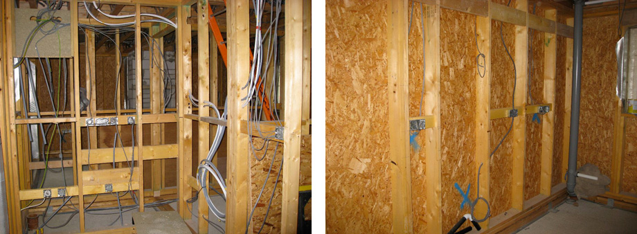 1st Fix Plumbing and Electrics: Wires and Pipes and Infrastructure