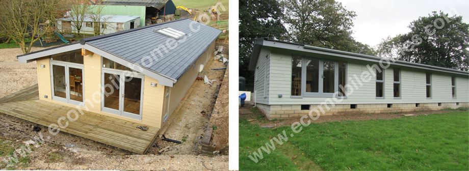 External Finish Of Mobile Home: Cladding, Windows and Roof