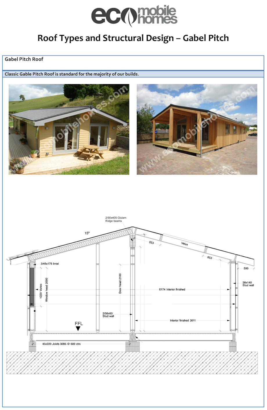 Roof types eco mobile homes for Manufactured trusses prices