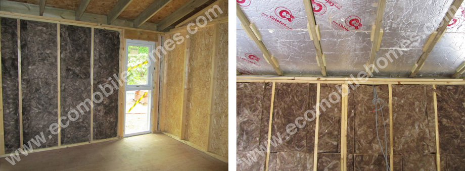 Fitting Insulation Between the Timber Frame Stud Walls