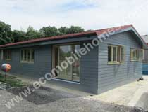 65 x 22 ft MobileHome with Blue Weatherboard Cladding