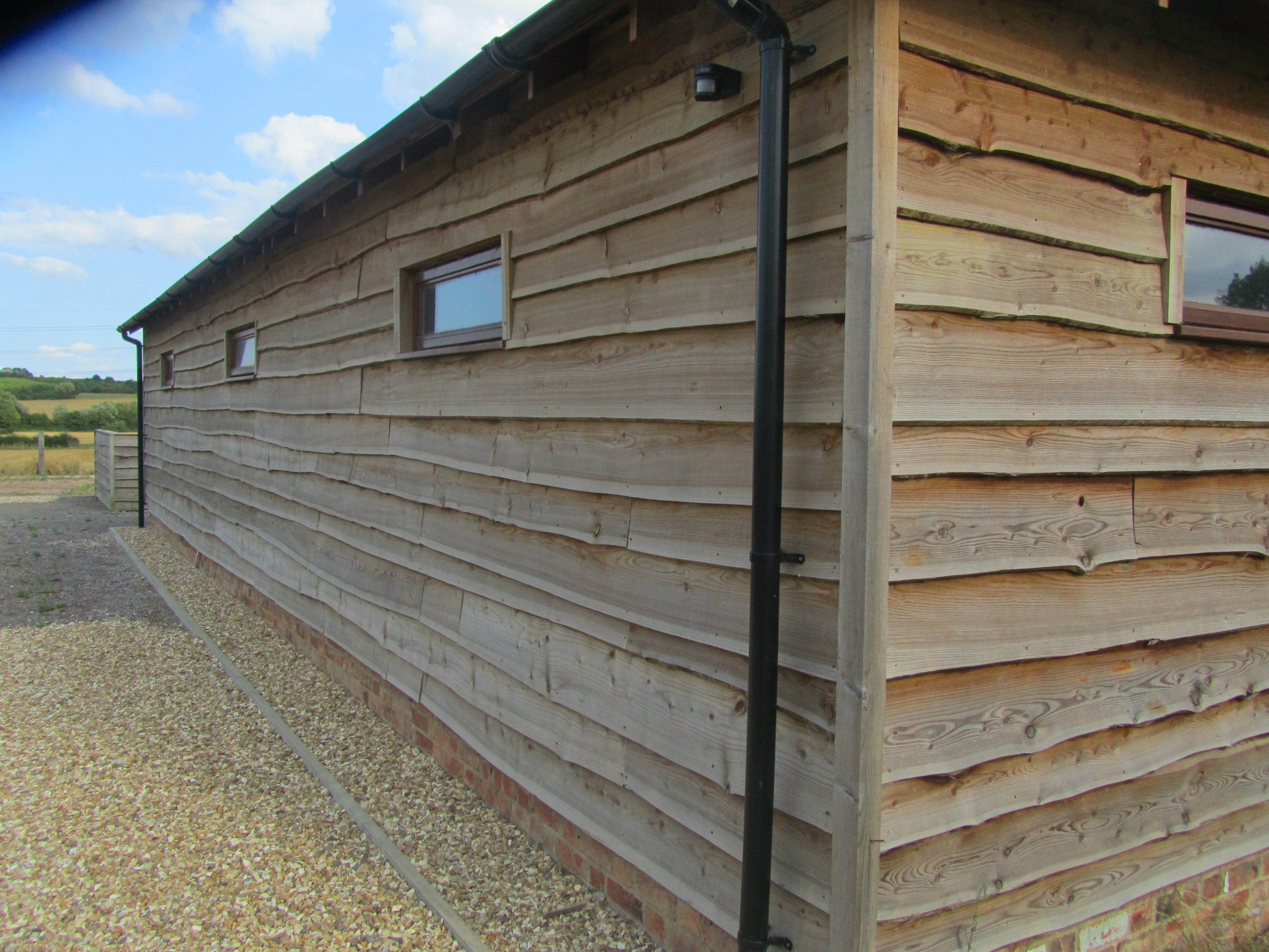 Waney Edge Weatherboard Cladding Eco Mobile Homes